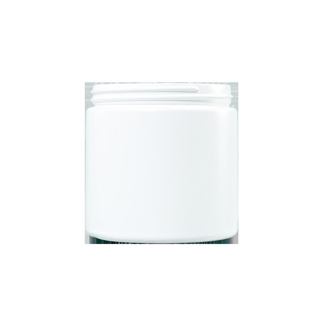 16 oz White HDPE Plastic Facial Jar, 89-400