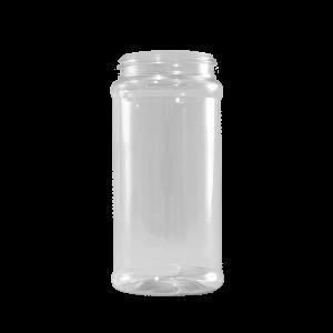 16 oz. Clear PET Plastic Spice Jar, 63-485