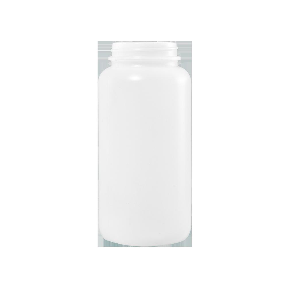 500 cc Natural HDPE Plastic Packer Bottle, 53-400
