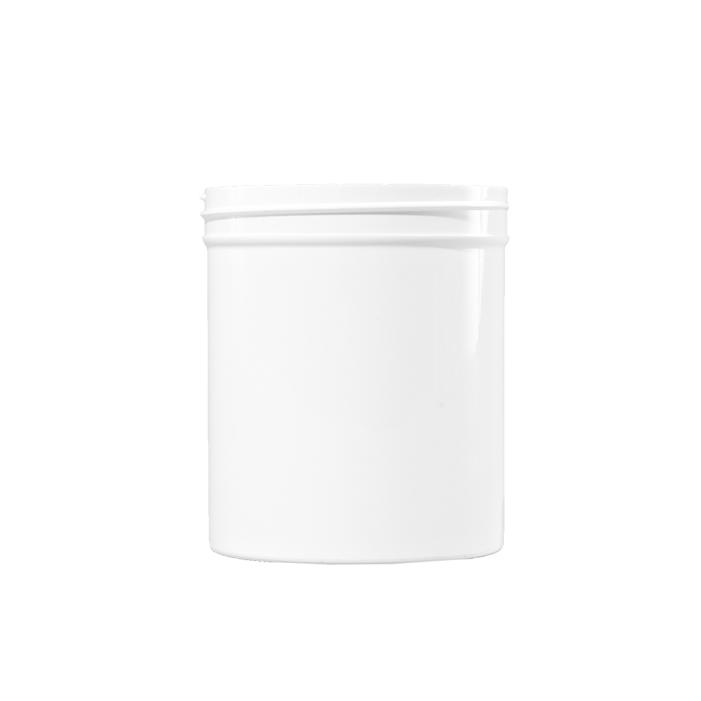 16 oz White PP Plastic Facial Jar, 89-400