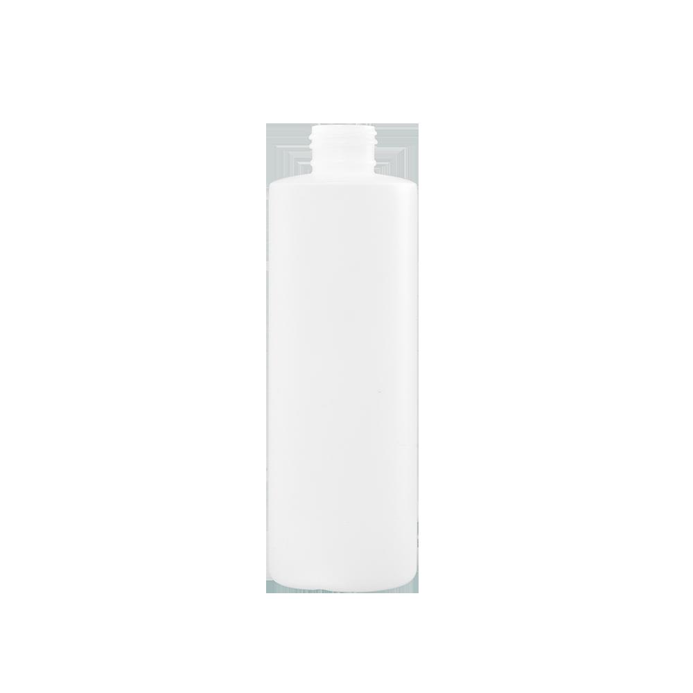8 oz Natural HDPE Plastic Cylinder Bottle, 24-410