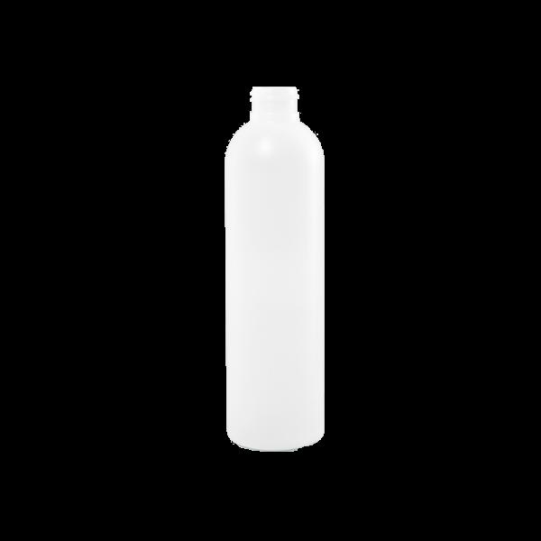 8 oz Natural HDPE Plastic Bullet Bottle, 24-410