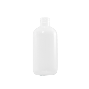 8 oz Natural LDPE Plastic Boston Round Bottle, 24-410