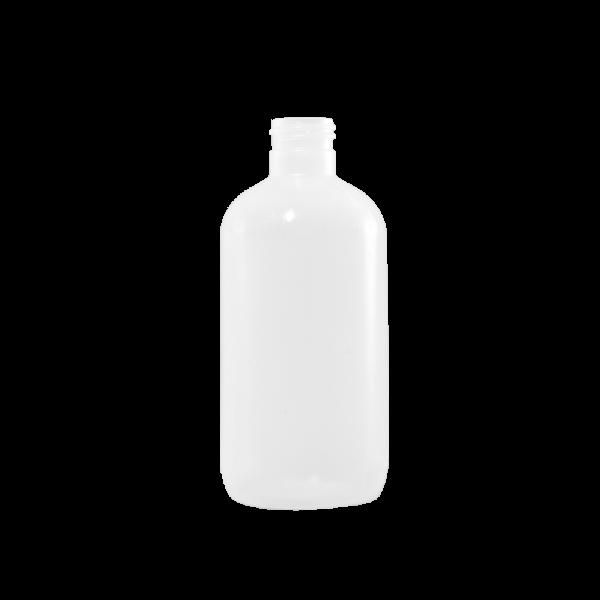 8 oz Natural LDPE Plastic Boston Round Bottle, 24-410
