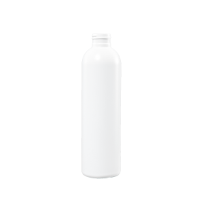 8 oz White HDPE Plastic Bullet Bottle, 24-410