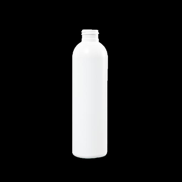 8 oz White HDPE Plastic Bullet Bottle, 24-410