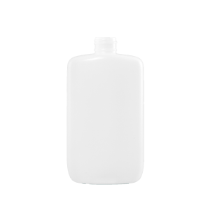 8 oz Natural HDPE Plastic Oval Bottle, 24-410