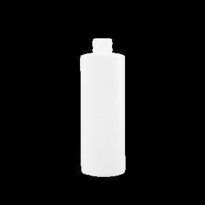 8 oz Natural HDPE Plastic Cylinder Bottle, 24-410, FTL5