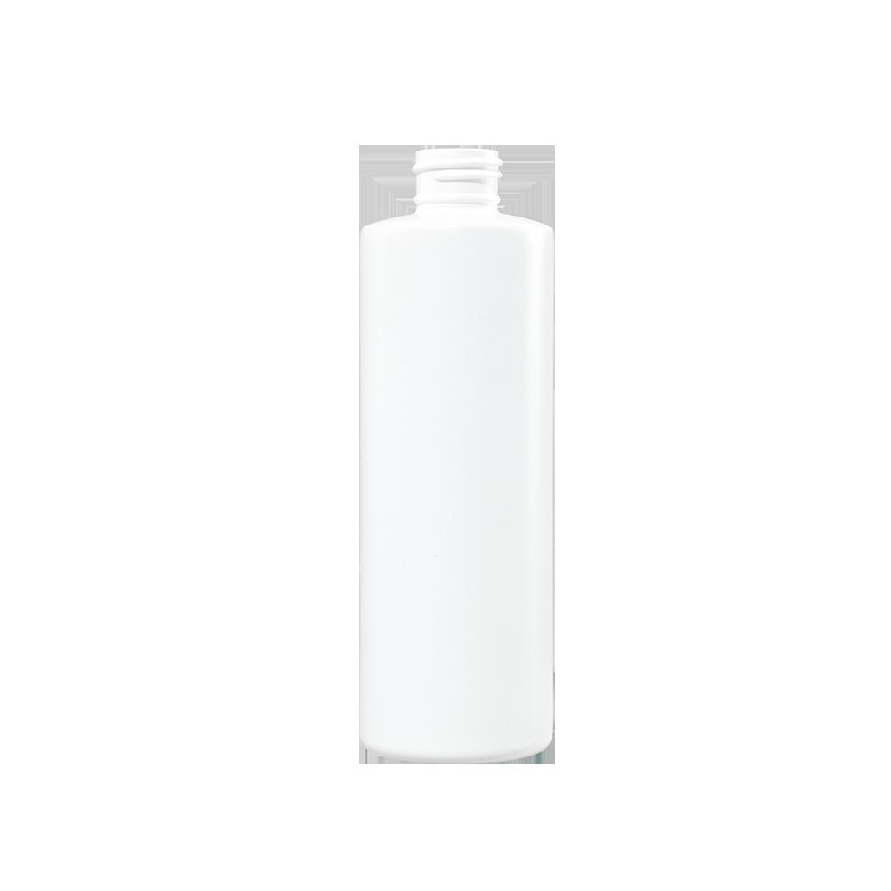 8 oz White HDPE Plastic Cylinder Bottle, 24-410