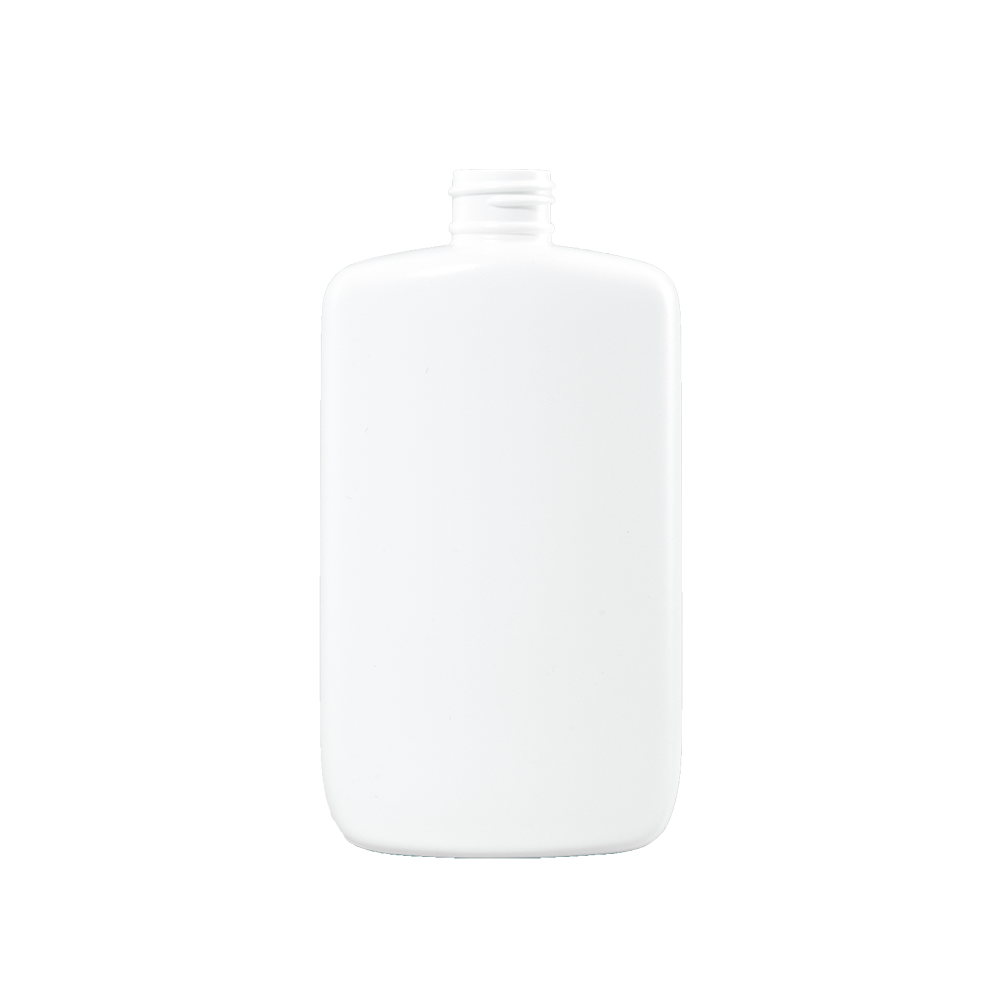8 oz White HDPE Plastic Oval Bottle, 24-410