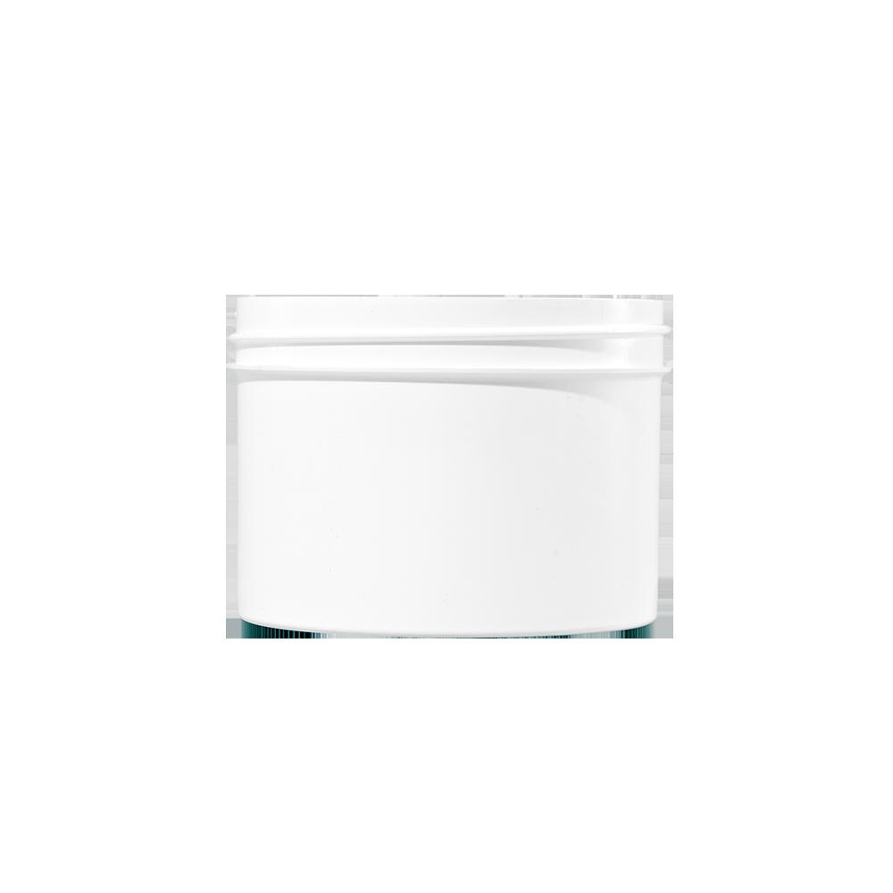 8 oz White PP Plastic Facial Jar, 89-400