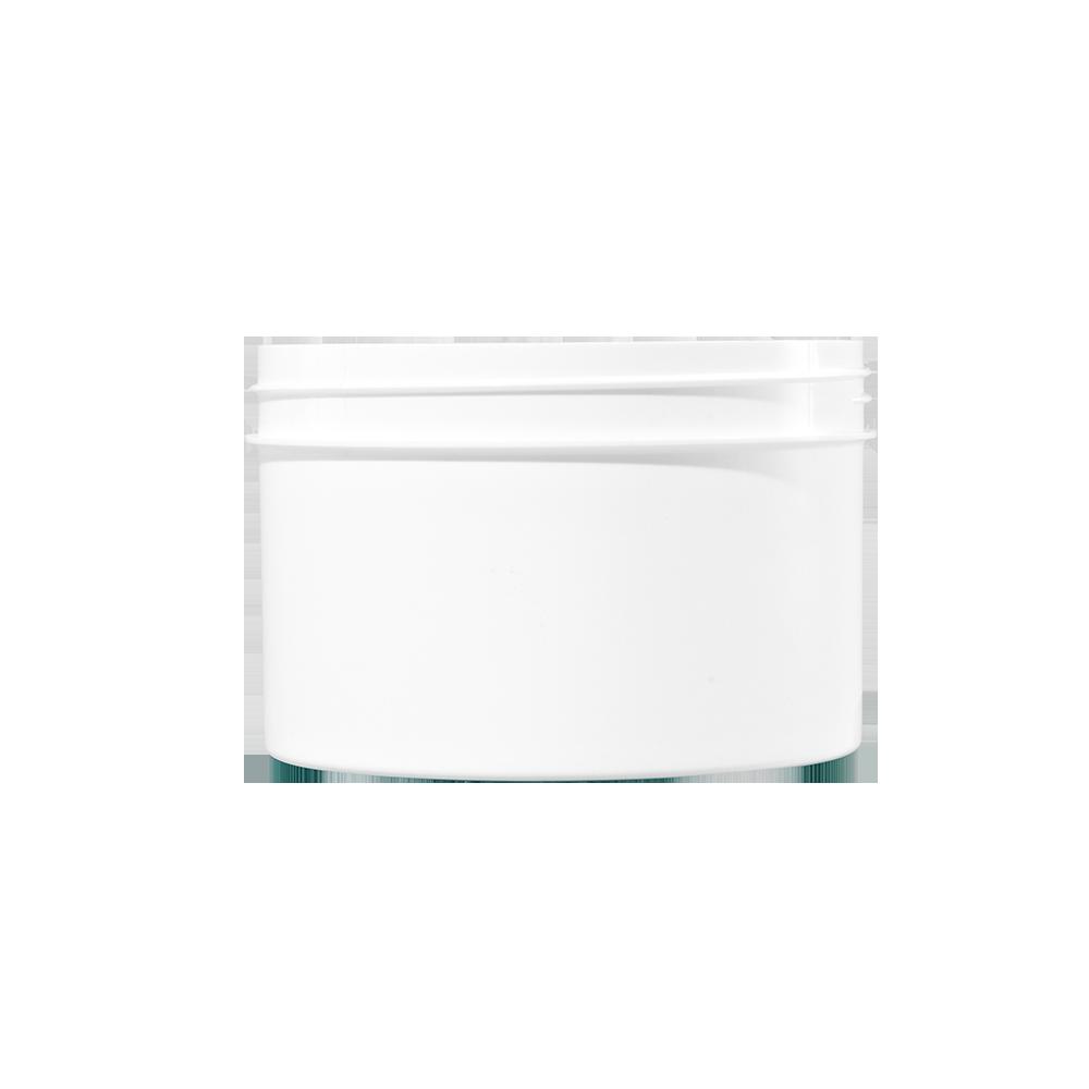 24 oz White PP Plastic Facial Jar, 120mm