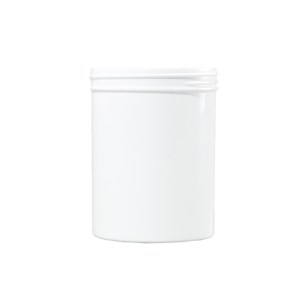 8 oz White PP Plastic Facial Jar, 70-400