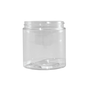 8 oz Clear PET Plastic Facial Jar, 70-400