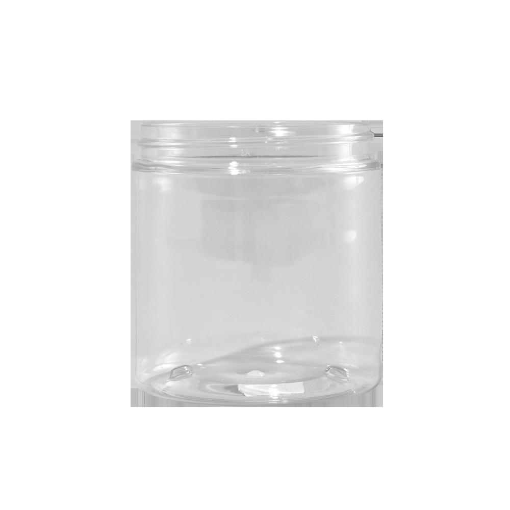 8 oz Clear PET Plastic Facial Jar, 70-400