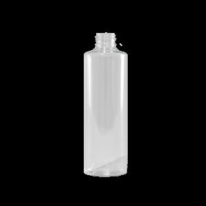 8 oz Clear PET Plastic Cylinder Bottle, 24-410