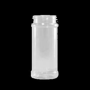 8.4 oz. Clear PET Plastic Spice Jar, 53-485