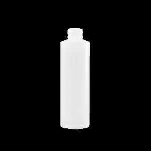 6 oz Natural HDPE Plastic Cylinder Bottle, 24-410