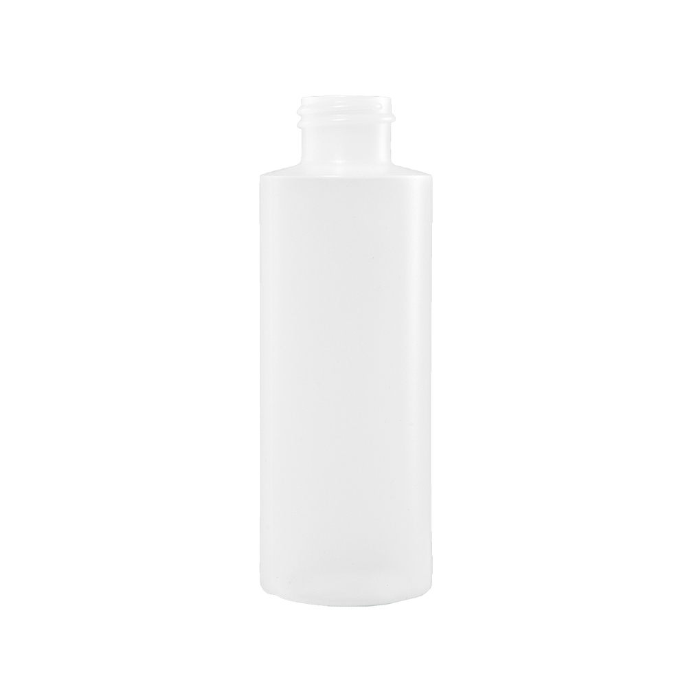 4 oz Natural HDPE Plastic Cylinder Bottle, 24-410
