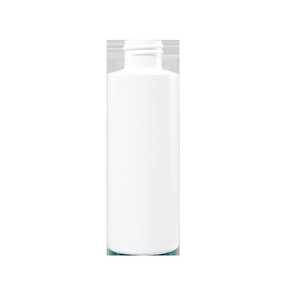 4 oz White HDPE Plastic Cylinder Bottle, 24-410