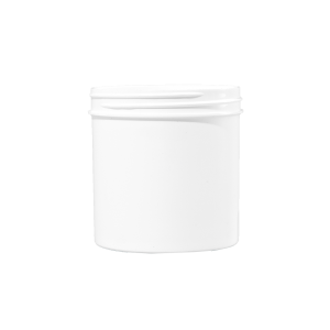 6 oz White PP Plastic Facial Jar, 70mm