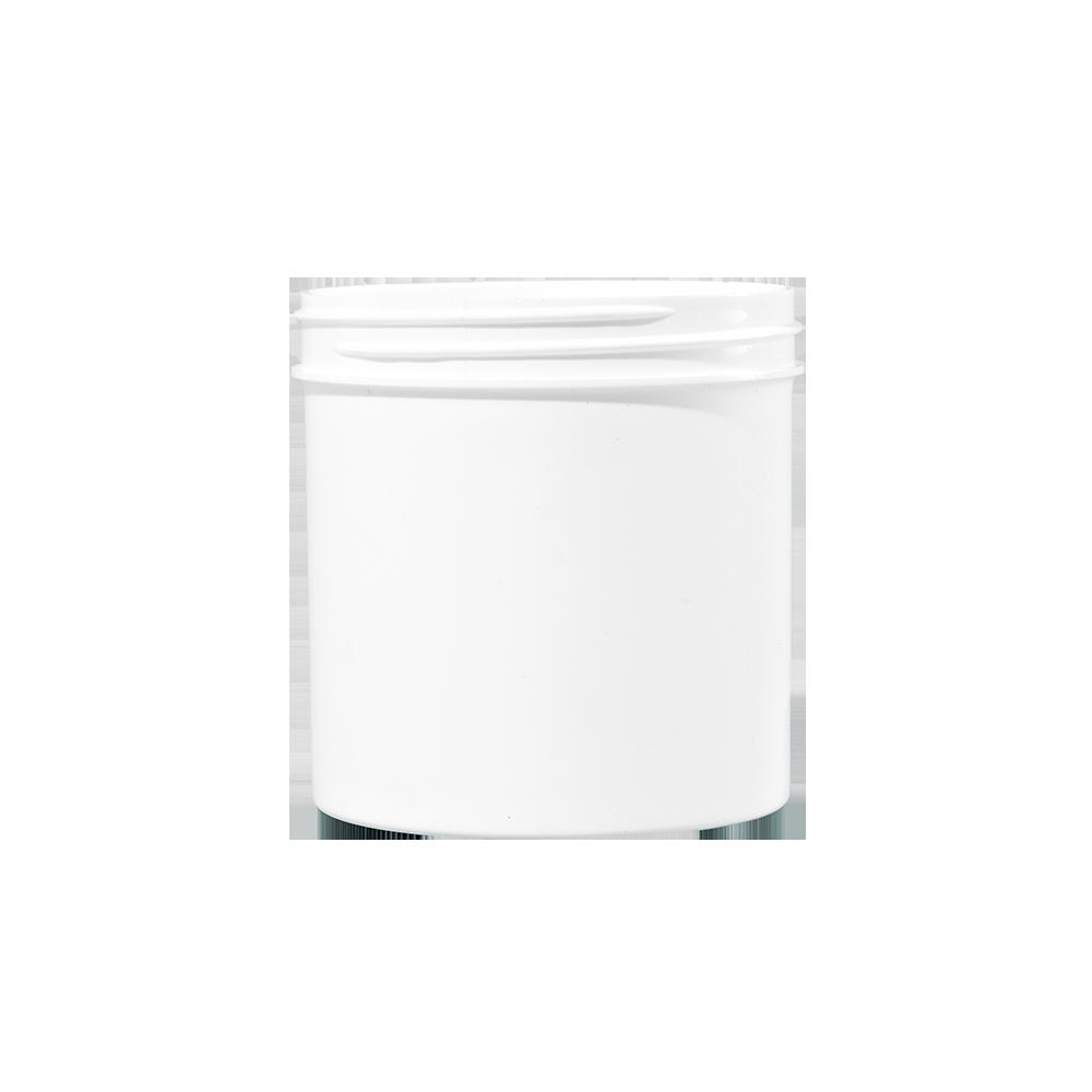 6 oz White PP Plastic Facial Jar, 70mm