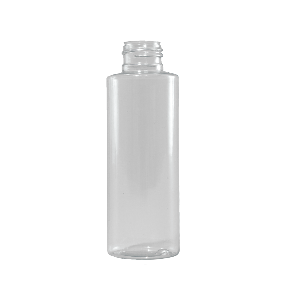 4 oz Clear PVC Plastic Cylinder Bottle, 24-410