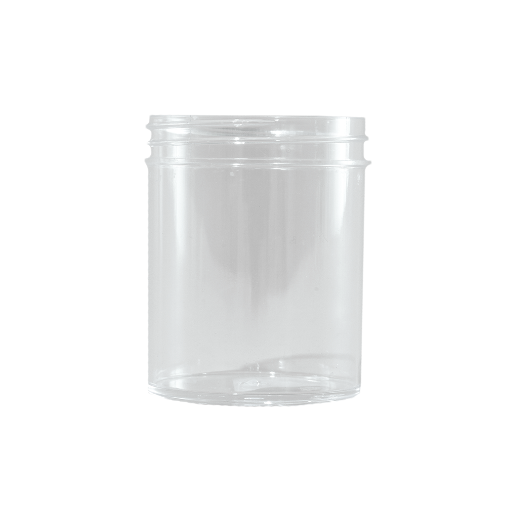 4 oz Clear STYRENE Plastic Facial Jar, 58mm