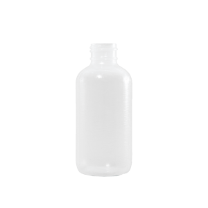 4 oz Natural LDPE Plastic Boston Round Bottle, 24-410