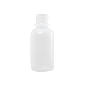 1 oz Natural LDPE Plastic Boston Round Bottle, 18-410