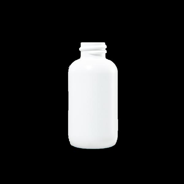 1 oz White HDPE Plastic Boston Round Bottle, 18-410