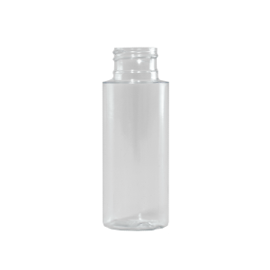 2 oz Clear PVC Plastic Cylinder Bottle, 24-410