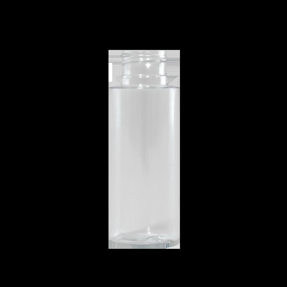 2 oz Clear PVC Plastic Cylinder Bottle, 24-410
