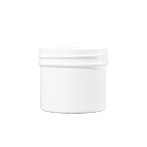 2 oz White PP Plastic Facial Jar, 53mm
