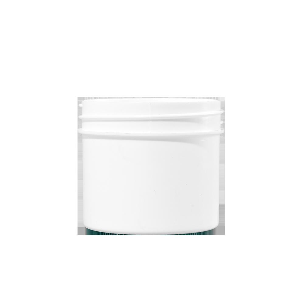 2 oz White PP Plastic Facial Jar, 53mm
