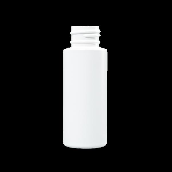 2 oz White HDPE Plastic Cylinder Bottle, 24-410