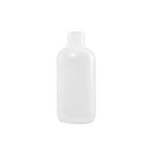2 oz Natural LDPE Plastic Boston Round Bottle, 18-410