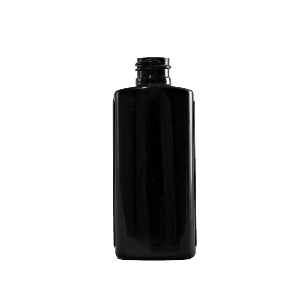 2 oz Black LDPE Plastic Oval Bottle, 20-410
