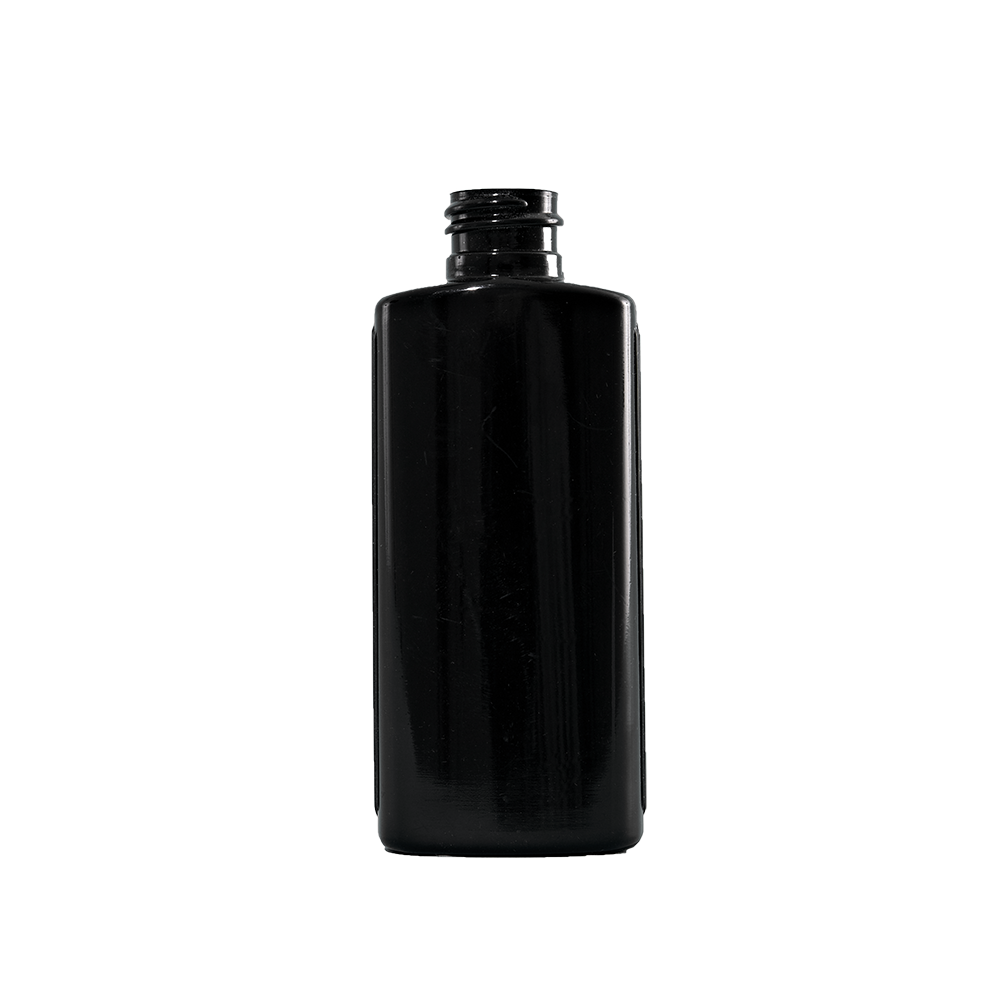 2 oz Black LDPE Plastic Oval Bottle, 20-410