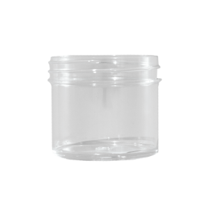 2 oz Clear STYRENE Plastic Facial Jar, 53mm
