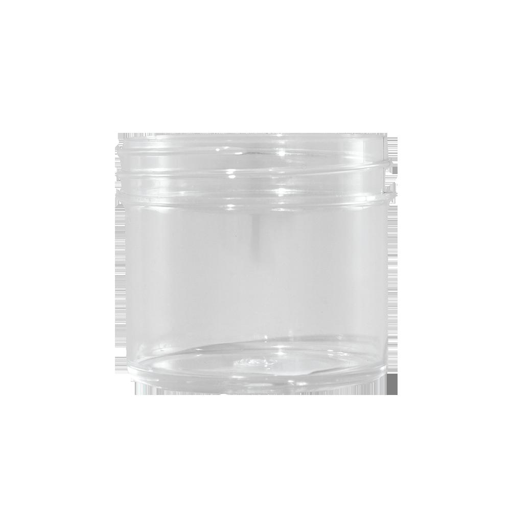 2 oz Clear STYRENE Plastic Facial Jar, 53mm