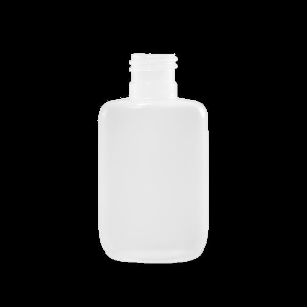 0.5 oz Natural HDPE Plastic Oval Bottle, 15-415