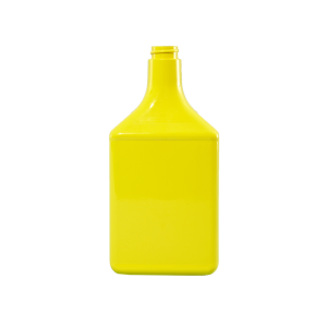 32 oz. Yellow PVC Plastic Octane Oblong Automotive Bottle, 28-400