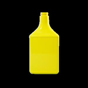 32 oz. Yellow PVC Plastic Octane Oblong Automotive Bottle, 28-400