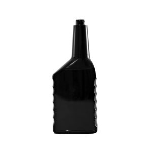 18 oz. Black PVC Plastic Grip Offset Oblong Automotive Bottle, 22-400