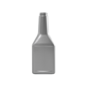 13 oz. Silver PVC Plastic Octane Oblong Automotive Bottle, 28-400