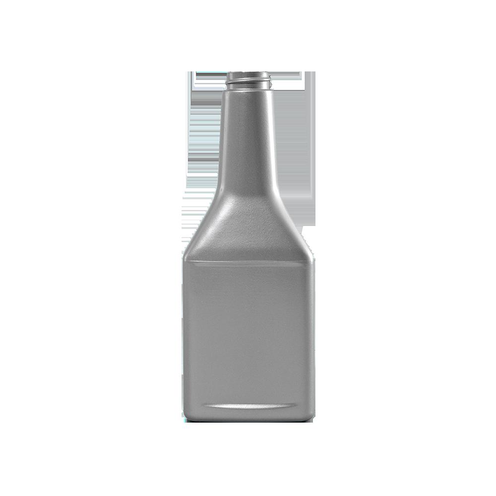 13 oz. Silver PVC Plastic Octane Oblong Automotive Bottle, 28-400