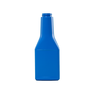 13 oz. Blue HDPE Plastic Octane Oblong Automotive Bottle, 33-400