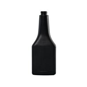 12 oz. Black HDPE Plastic Octane Oblong Automotive Bottle, 22-400