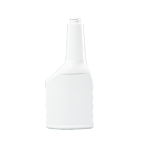 12 oz. White PVC Plastic Grip Offset Oblong Automotive Bottle, 22-400